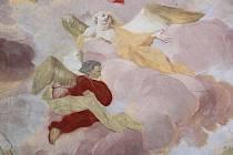 Malba Antonína Sebastiniho v sakristii prostějovského kostela Milosrdných bratří