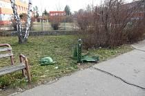 Řádění vandalů v Prostějově