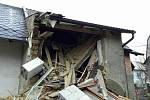 Zřícení budovy v ulici Na Příhonech v Konici