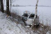 Následky nehody mezi Dubem nad Moravou a Prostějovem