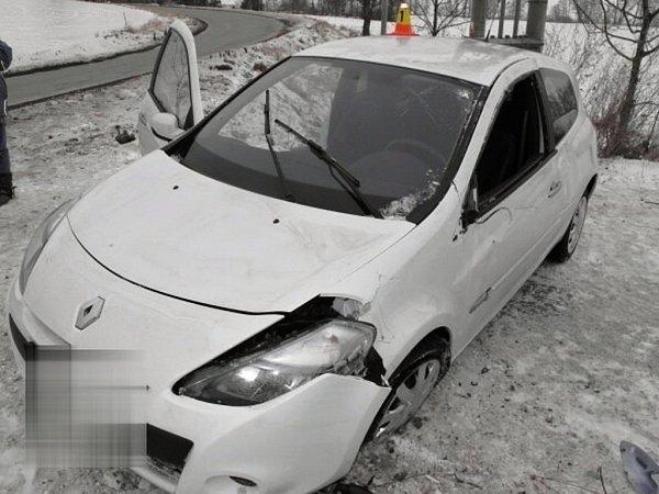Nehoda renaultu uBrodku uProstějova