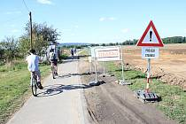 Frekventovaná cyklostezka mezi Prostějovem a Smržicemi