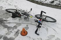 Nehoda fabie s cyklistkou v Prostějově