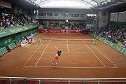Prostějovský tenisový stánek bude hostit Fed Cup s Kanadou. Ilustrační foto