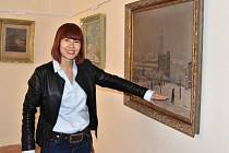 Vernisáž výstavy s názvem Ze sbírek uměleckých děl města Prostějova
