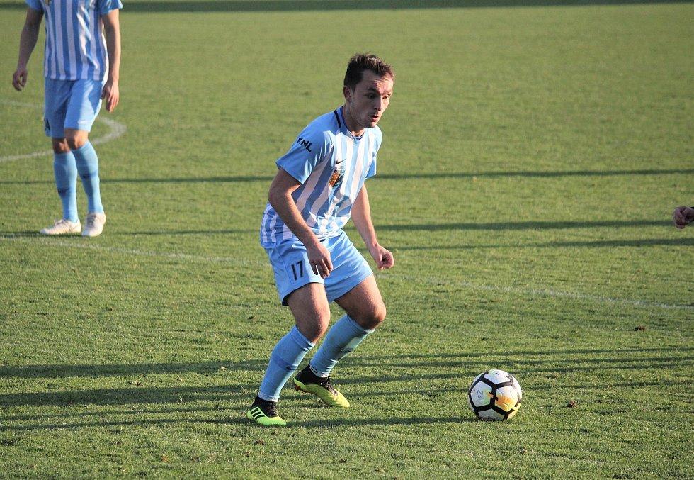 Fotbalisté Prostějova (v modrém) proti Třinci. Zdeněk Fládr