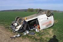 Nehoda u Hluchova - Takto dopadl peugeot