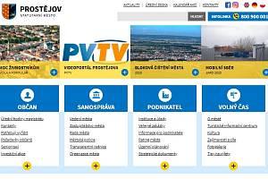 Náhledová stránka webu města Prostějova