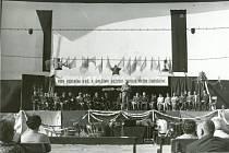1. Propagační politické projevy při okresních dožínkách vroce 1971.