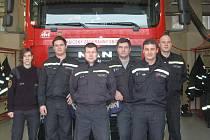 Jednotka profesionálních hasičů Konice s velitelkou Kateřinou Dostálovou
