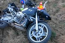 Nehoda motocyklisty mezi Mostkovicemi a Plumlovem
