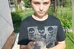 Mladý chovatel Radek Sekanina z Mostkovic a jeho zvířátka