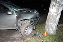 Následky dopravní nehody v Bedihošti