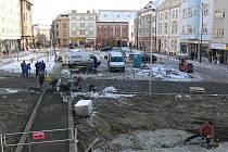 Husserlák - přestavba náměstí - 30.11.2010