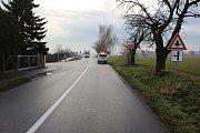 Následky dopravní nehody ve Víceměřicích