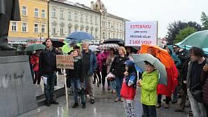 Celorepublikový protest za nezávislost justice v Prostějově