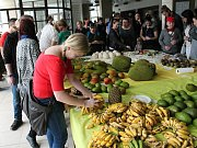 Africké tržiště. Prostějovský Společenský dům se změnil v nedělním odpoledni ve velkou tržnici. Prodejní výstava ´Afrika bez obalu II´ se těšila nadstandardnímu zájmu veřejnosti. Krátce po otevření, se před pokladnami vytvořila několikametrová fronta a ex
