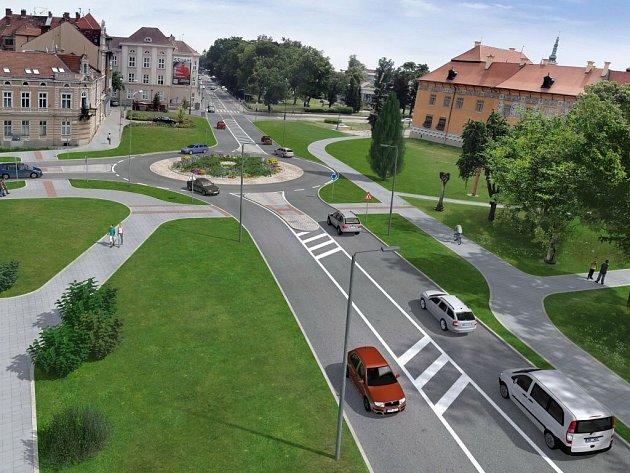 Vizualizace rondelu na Přikrylově náměstí v Prostějově