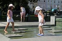Horký den v Prostějově - pondělí 20. srpna 2012