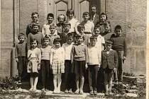 Focení hrochovských školáků v roce 1960.