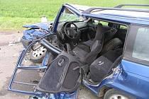 Nehoda na křižovatce v Hrdibořicích