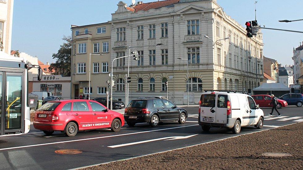 Oficiální otevření opravené Plumlovské ulice v Prostějově, 1. listopadu 2019