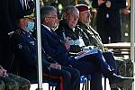 Slavnostní nástup 53.pPzEB při příležitosti propůjčení bojové zástavy 553. praporu bezpilotních prostředků za účasti prezidenta Miloše Zemana.