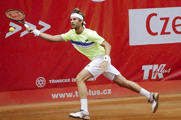 Na prostějovských kurtech probíhá první kolo turnaje Czech Open. Norbert Gombos