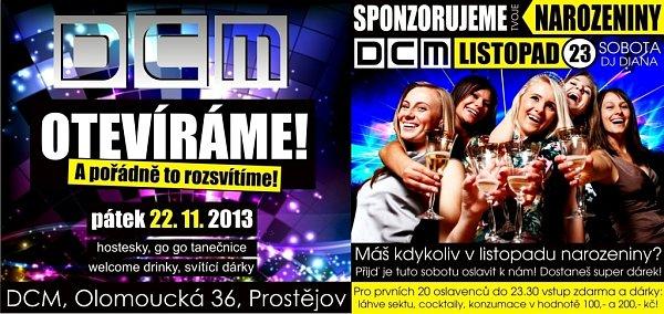 Video dance club DCM na Olomoucké ulici vProstějově