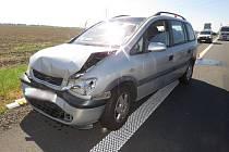 Dopravní nehoda na dálnici D46 směrem na Olomouc se stala v pátek 26.8. ráno.