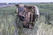 Nehoda na D46, řidiči vběhla do cesty zvěř