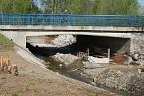 Stavba podchodu pro pěší a podjezdu po cyklisty u Hloučely pod mostem v Olomoucké ulici v Prostějově - 25. dubna 2019