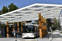 Autobusový terminál na Floriánském náměstí v Prostějově