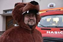 Masopustní maska medvěda