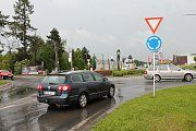 Kudy povede severní obchvat Prostějova? Dopravní spojka, která by měla ulevit přetížené Olomoucké ulici by měla ústit z kruhového objezdu u Držovic.