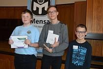Vítězové 1. míst ve všech kategoriích. Zleva: Jan Flajšar, Samuel Sojka a Petr Barták.