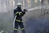Obří požár lesa v Přemyslovicích