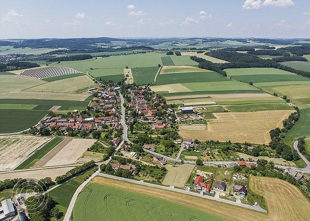 Ochoz - letecký snímek