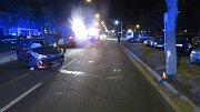 Havárie 19letého řidiče v Dolní ulici v Prostějově