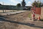 Rozkopaný Vícov, kvůli stavbě kanalizace - 29. 9. 2015