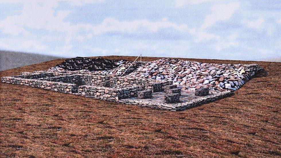 Vizualizace budoucí podoby místa po Lichtenštejnově chatě na Králickém Sněžníku.
