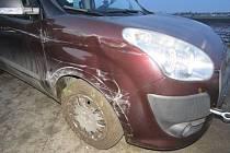 Nehoda v Určické ulici v Prostějově