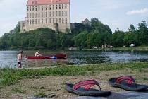 Letní pohoda na Podhradském rybníku v Plumlově