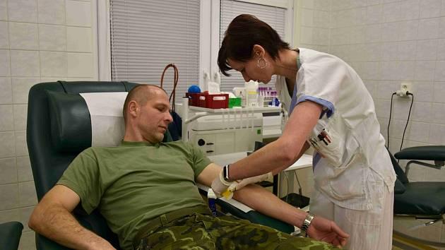 Prostějovští vojáci darovali krev