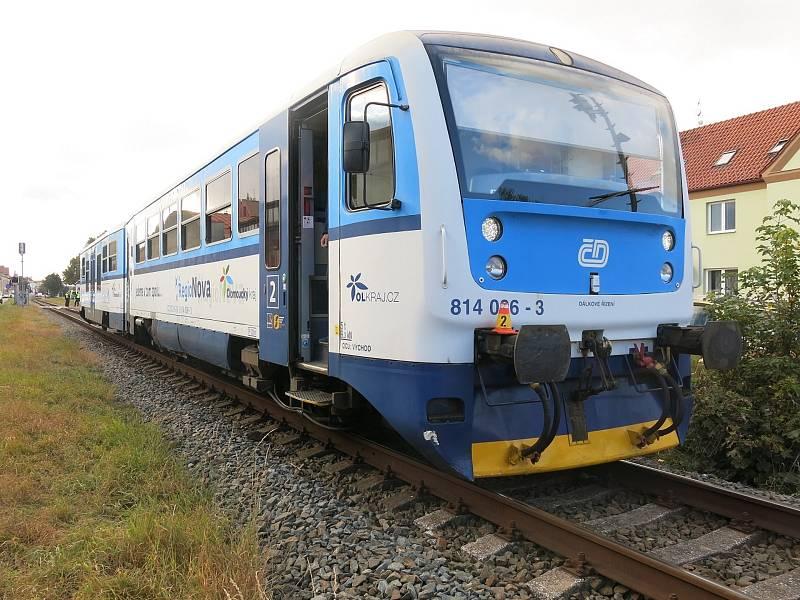 Ve středečním odpoledni došlo ke srážce vlaku s osobním vozidlem v prostějovské ulici Českobratrská. 13.10.2021