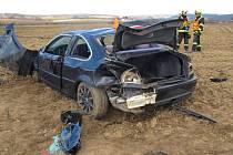 Bouračka BMW mezi Ohrozimí a Vícovem 8. 3. 2020