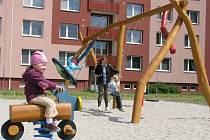 Dětské hřiště v Tylově ulici v Prostějově