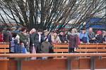 Zahájení bruslařské sezony na náměstí TGM v Prostějově.
