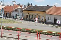 Uzavírka Vodní ulice v Prostějově