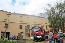 Požár domů ve Školní ulici v Prostějově